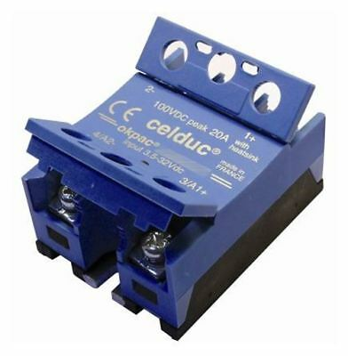 Celduc 40 A Solid State Relay, Chassis Mount MOSFET, 110 V dc Maximum Load