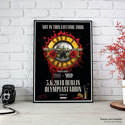 Guns N Roses | Berlin Concert Not in this Lifetime Tour 2018, Fine Art Poster HR