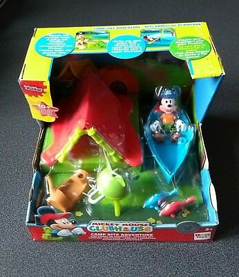 BNIB Disney Junior Mickey Mouse Clubhouse Camp Site Adventure Playset *FREE POST