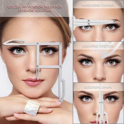 Microblading Caliper Golden Mean Eyebrow Measure Ruler Permanent Makeup Stencil~