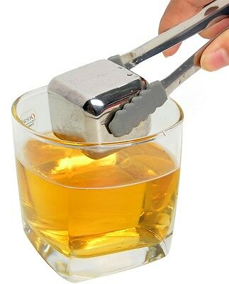 8mmx27mm Giant Beer Wine Whisky Stones Stainless Steel Ice Cube Chiller Cooler