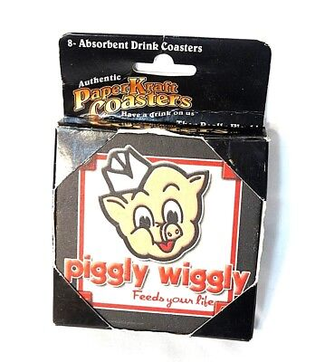 Vintage Piggly Wiggly Drink Coasters