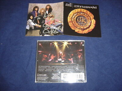Whitesnake  ~ The Definitive Collection   David Coverdale Autographed Cd