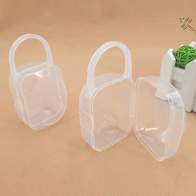 1-5x Baby Clear Pacifier Bag Soother Holder Nipple Case Storage Organizer Travel