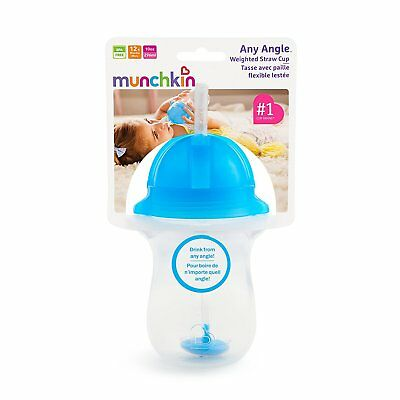 Munchkin Any Angle Click Lock Weighted Straw Cup 10 OZ - BLUE