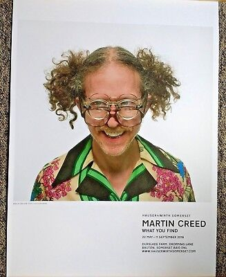 Martin Creed - What You Find (2016) - Work 2682 - ORIGINAL EXHIBITION POSTER