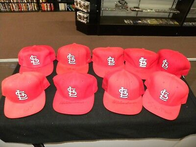 Lot of 9 Vintage St. Louis Cardinals Hats with Auto's Stan Musial Ozzie Smith ++