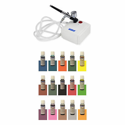 PME Edible Airbrush Spray Full Set of Colours and Compressor for Cake Decorating