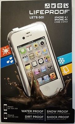 quality design 0a01a 26ad1 AUTHENTIC IPHONE 4 4S Lifeproof Fre White & Gray Brand New Sealed Retail Box
