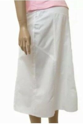 Ex Mothercare Maternity NEW White Coton Summer Skirt Size 12