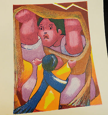 """Beauty  Jean  Charlot  """"signed """"   Litho  """"mother / Child  Tempest """"  Excellent"""