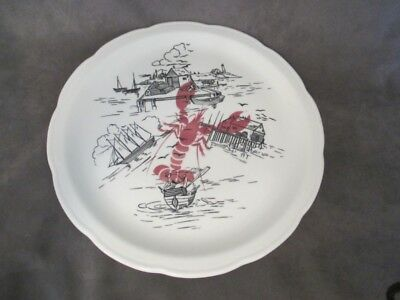 F1 Wellsville China Restaurant Ware - SEAFOOD LOBSTER House Round Platter