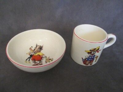 F1  Edwin Knowles - Childs Bowl & Cup - Dressed Dog Theme