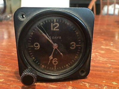 Vintage US Military Elgin AC-26186 8 Day Aircraft Clock.