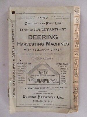 Deering Harvesting Machinery CATALOG - 1897 ~~ plows, farming, agriculture