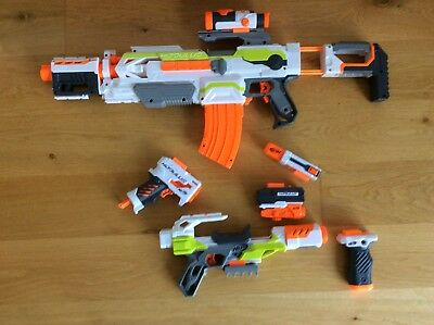Nerf gun bundle 24 Assorted Guns with large amount of assorted bullets!