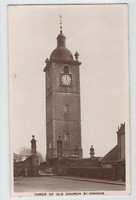 STIRLING postcard - TOWER of OLD CHURCH ST. NINIANS - posted 1937