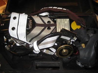 Scott / MSA Air Pak Ultralite II with mask and case / Fire Fighter air pack