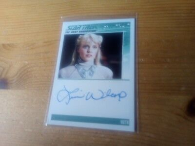 Star Trek Tng Portfolio Prints Series Two Autograph Card Of Lisa Wilcox