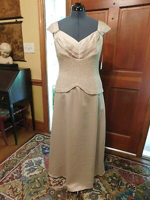 Beautiful Champagne Mother Of The Bride-Groom Or Formal Special Occasion S 16