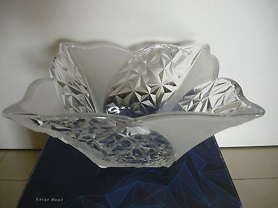 Large Glass Bowl-silica brand made in Japan NEW not used-diameter 24cm across