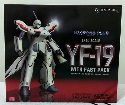 Arcadia Macross Plus 1/60 scale Perfect Transformation YF-19 with fast pack