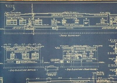1936 Wadhams Oil Warehouse Pump House Blueprint 701 Thomas Wausau WI Gas Station