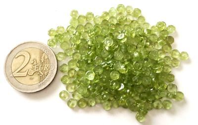Lot 230 Natural Peridot Hand Carved Beads - Handmade