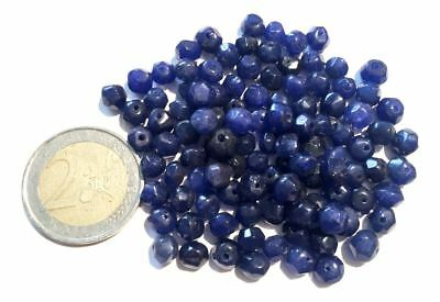 Lot 110 Natural Sapphire Hand Carved Faceted Beads - Handmade