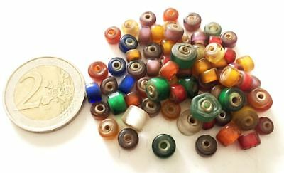 Lot 72 Old Venetian Double Soul Hand Carved Glass Beads - Handmade