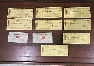 Vintage Coca-Cola factory Bottling canceled checks from Wyandotte Michigan