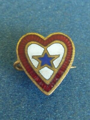 WWII home front heart shaped son in service pin