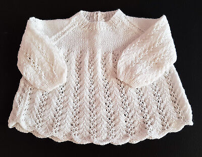 Vintage Baby's White Knitted Angel Dress/top ~ Collectors, Reborn Dolls, Babies