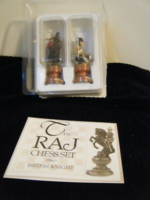 Franklin Mint The Raj Chess Set Pieces British Knight & Solder Pewter