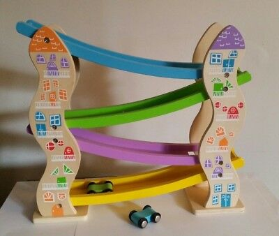 Colorific Wooden Zig Zag Car Racer Ramp