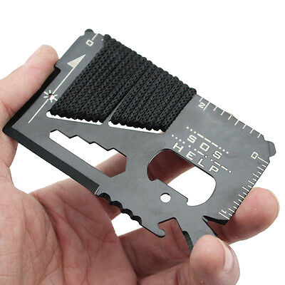 14 in 1 Multi Purpose Pocket Credit Card Survival Knife Outdoor Camping Tool  be