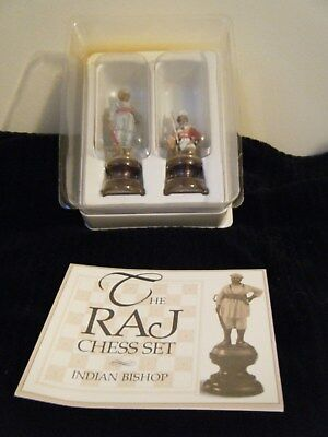 Franklin Mint The Raj Chess Set Pieces Indian Bishop & Solder Pewter