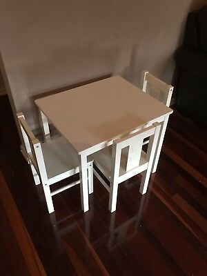 Melb Children's Table and chairs Kids Ikea furniture