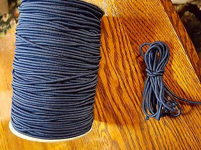 3 mm Bungee Shock Cord Stretch Paracord Dark Blue 10' 25'  You Choose