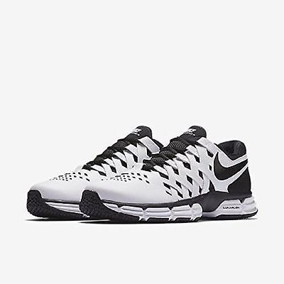 0765e4de668f2 Nike Men s Lunar Fingertrap Tr Training Shoe white   black 898066 100 Size  13
