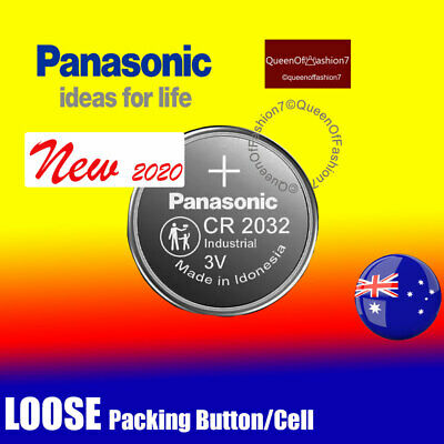 2 x  Genuine Panasonic CR2032 LOOSE Battery 3V Lithium Batteries Button