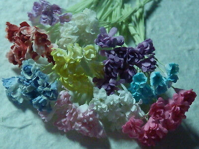100 stems Miniature Paper Flowers MP3D10A Cards Scrapbooks Doll House Decoration