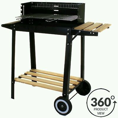 Marko Large Rectangular BBQ Barbecue Steel Charcoal Grill Outdoor Patio Garden