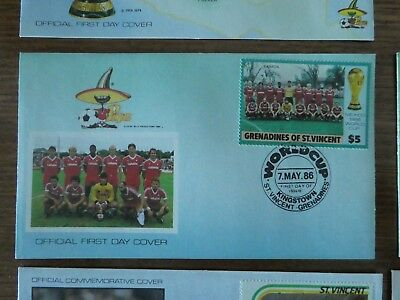 Commemorative Cover - Grenedines of St. Vincent - Football World Cup Mexico 1986