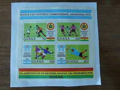 4 x stamps - Ghana - Football World Cup Argentina 1978