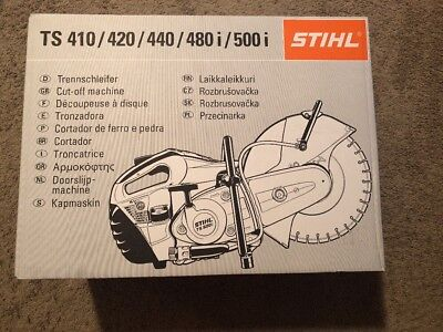 SEALED STIHL TS420 GAS CONCRETE CUT-OFF SAW w/ BLADE