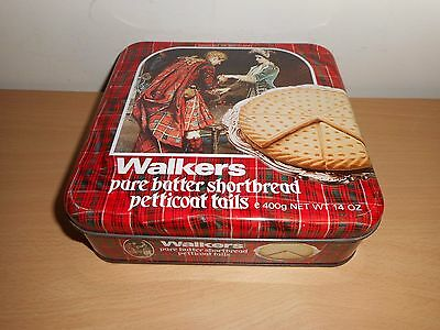 Walkers Shortbread Petticoat Tails Biscuit Tin '' Farewell ''