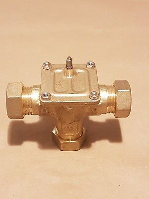 Honeywell 22mm 3 port valve 22mm compression  valve body only