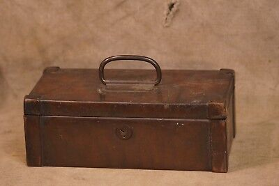 Antique Copper Cash Money Strong Box, Heavy, Great Tarnishing/Patina
