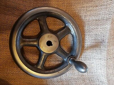 "Lathe hand wheel.  210mm (8 1/4"") diameter with 20mm keyed bore."
